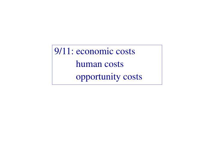 9/11: economic costs