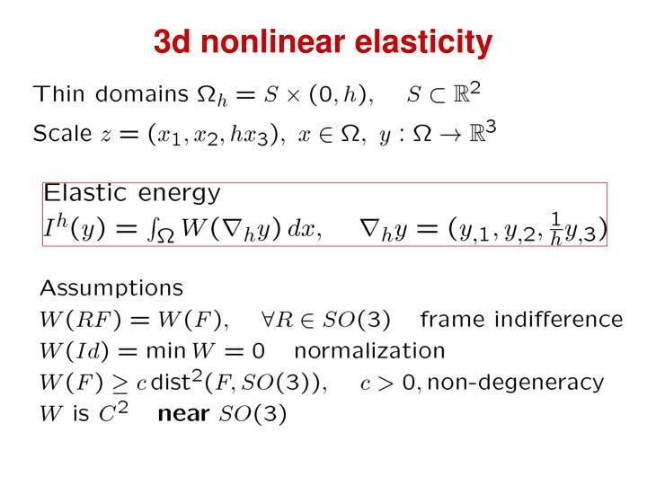 3d nonlinear elasticity
