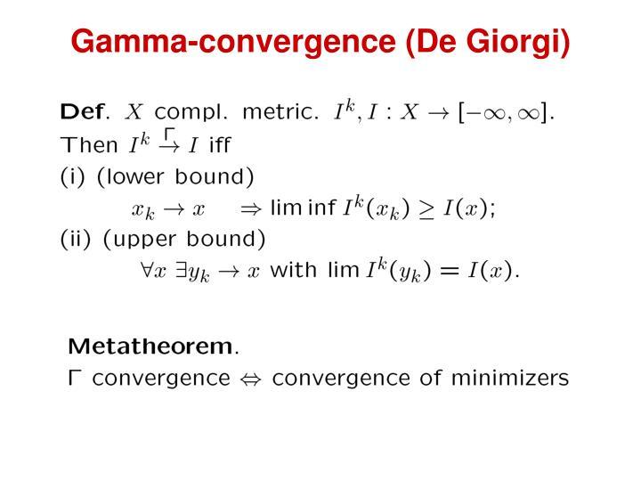 Gamma-convergence (De Giorgi)