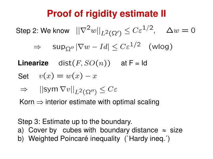 Proof of rigidity estimate II