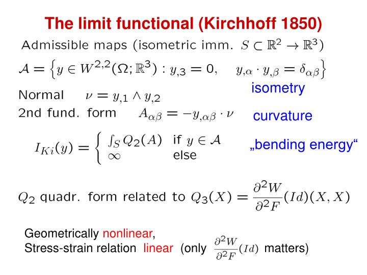 The limit functional (Kirchhoff 1850)