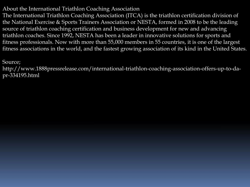 About the International Triathlon Coaching Association