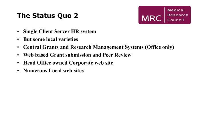 The Status Quo 2