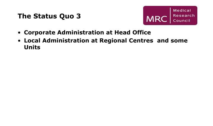 The Status Quo 3