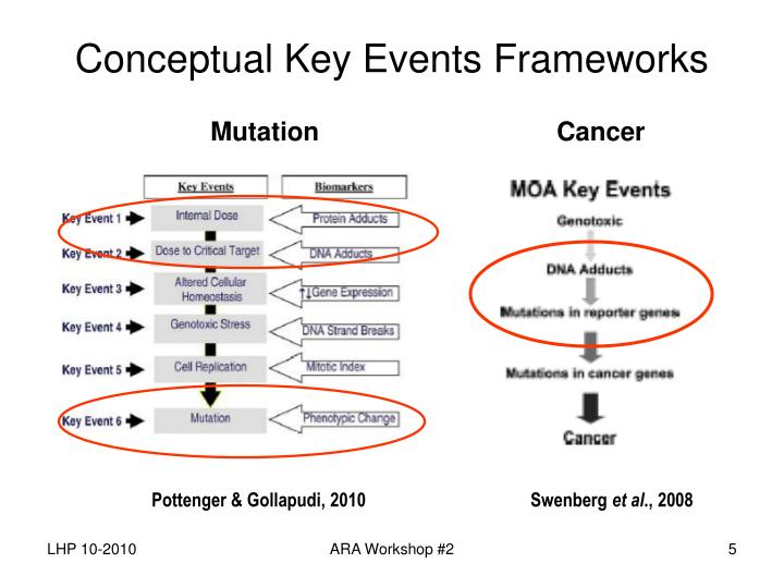 Conceptual Key Events Frameworks