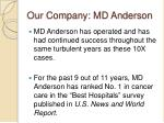 our company md anderson