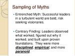 sampling of myths