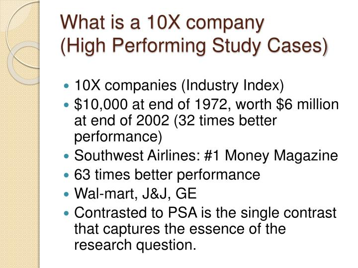 What is a 10X company