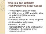 what is a 10x company high performing study cases
