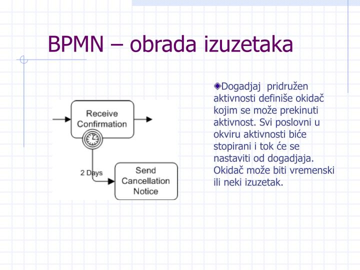 BPMN – obrada izuzetaka