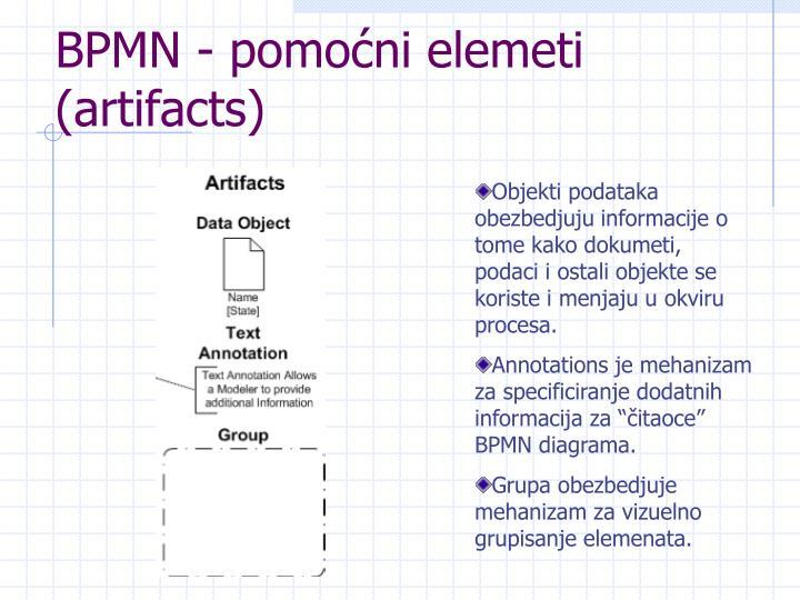 BPMN - pomoćni elemeti (artifacts)