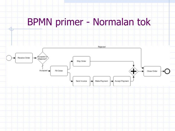 BPMN primer - Normalan tok