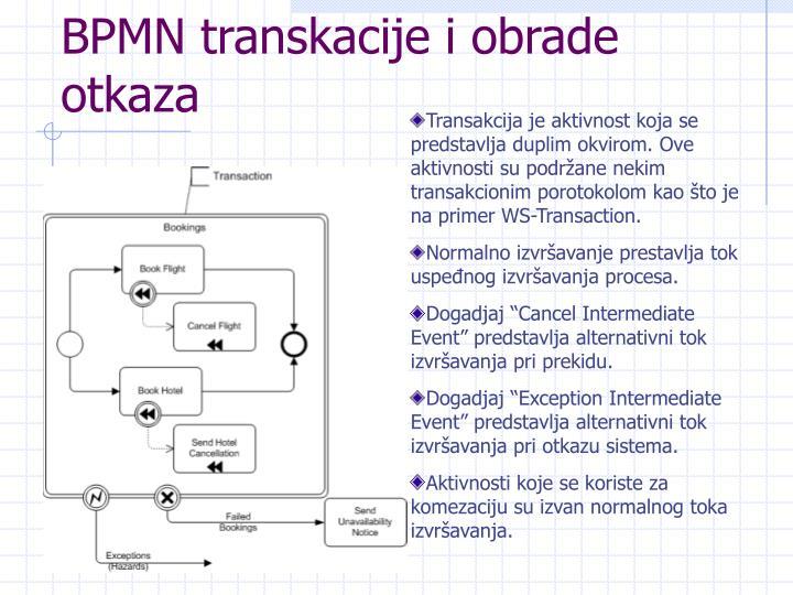 BPMN transkacije i obrade otkaza