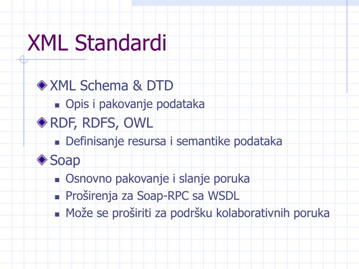 XML Standar
