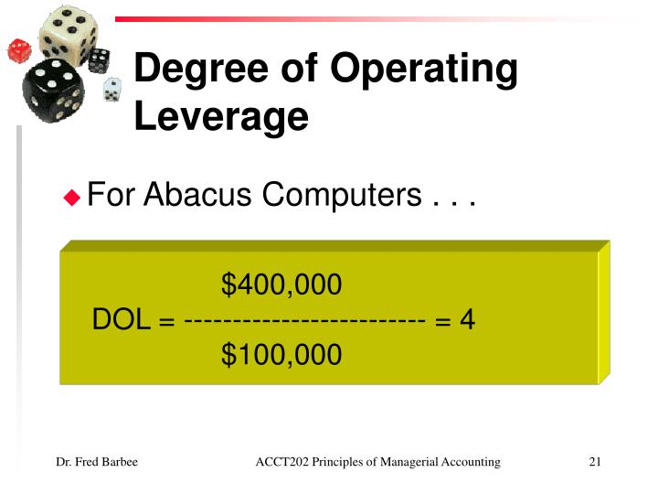 firms with a high degree of operating leverage are A study on the association between operating the airline industry holds high operating leverage due decompose a firm's systematic risk into degree of.