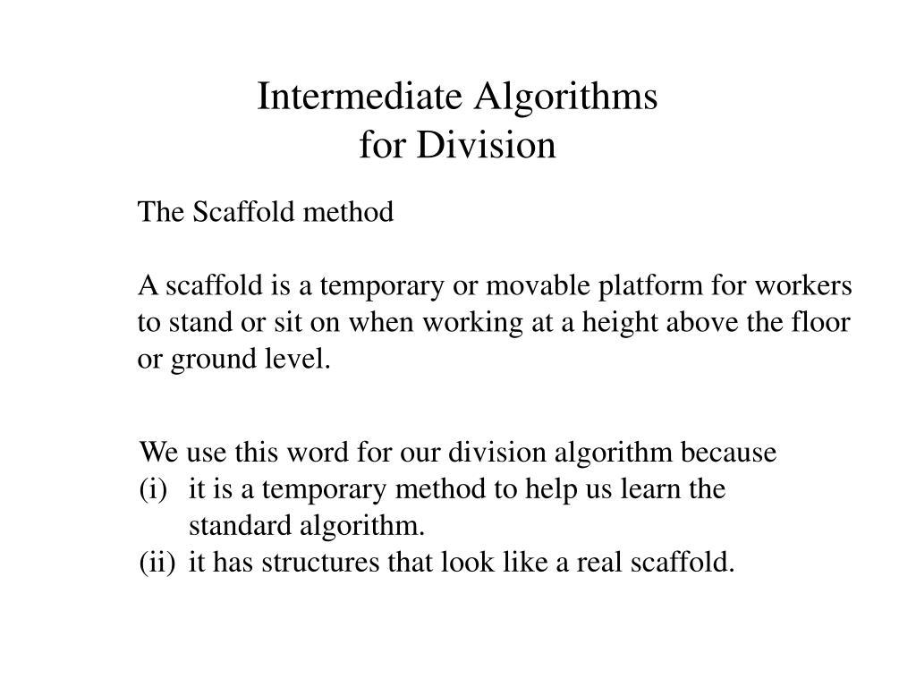 Intermediate Algorithms