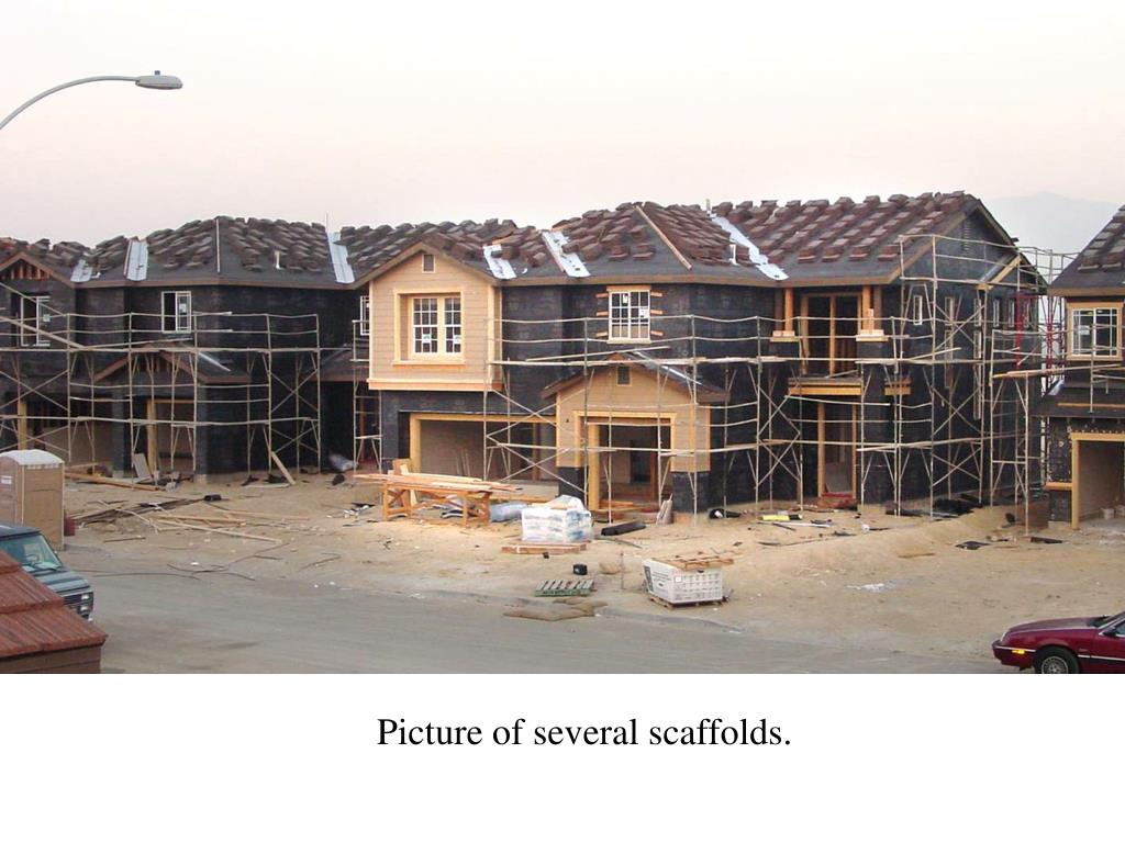 Picture of several scaffolds.