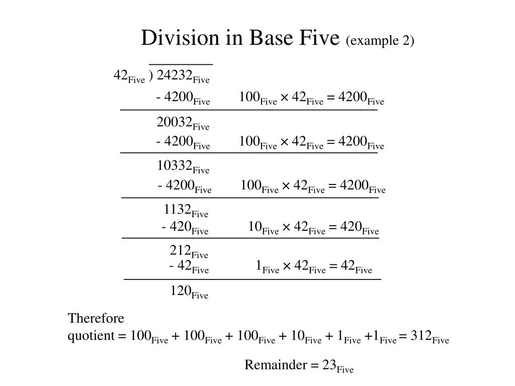 Division in Base Five