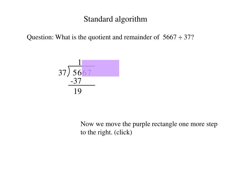 Standard algorithm