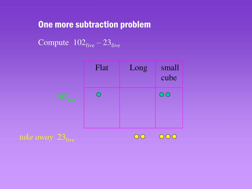 One more subtraction problem