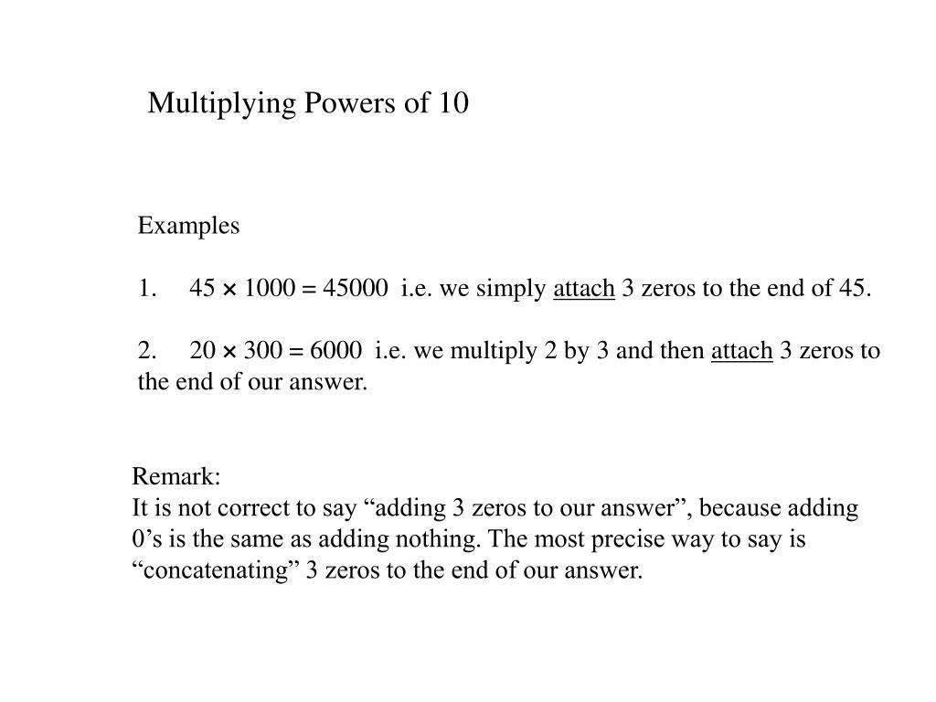 Multiplying Powers of 10
