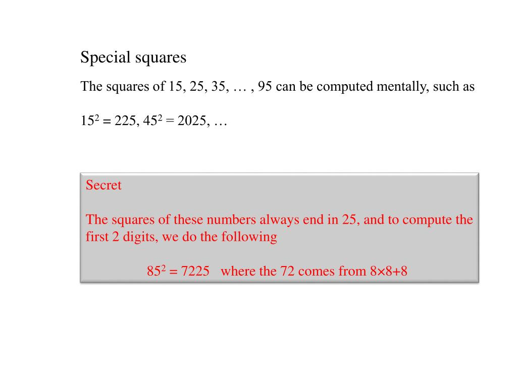 Special squares