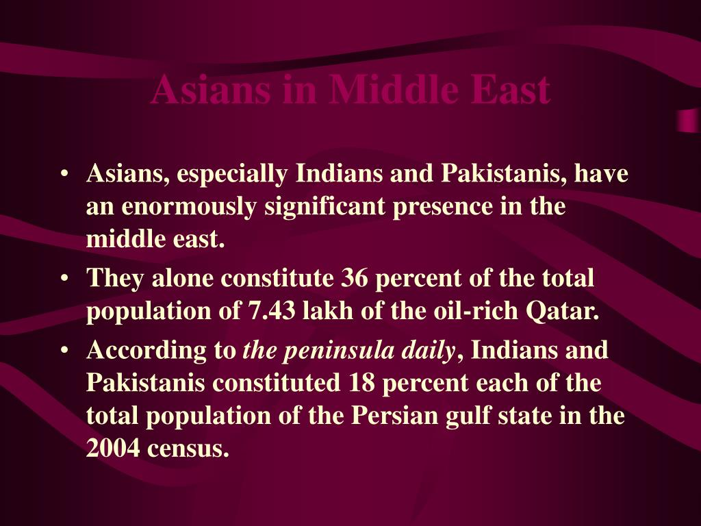 Asians in Middle East