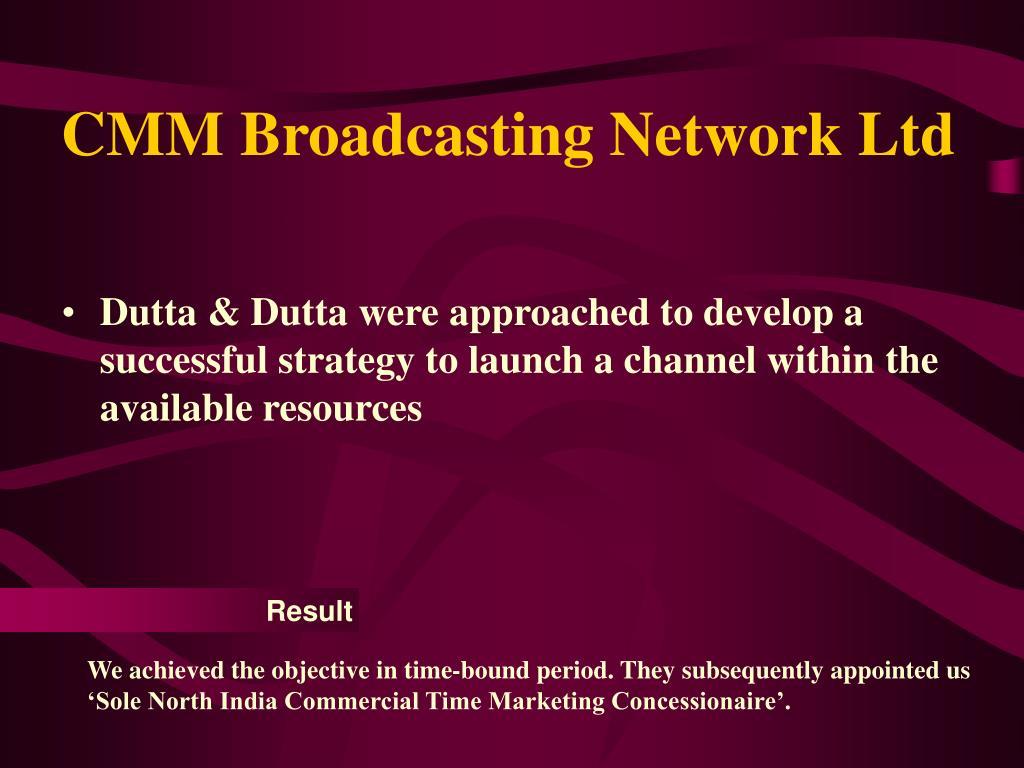 CMM Broadcasting Network Ltd
