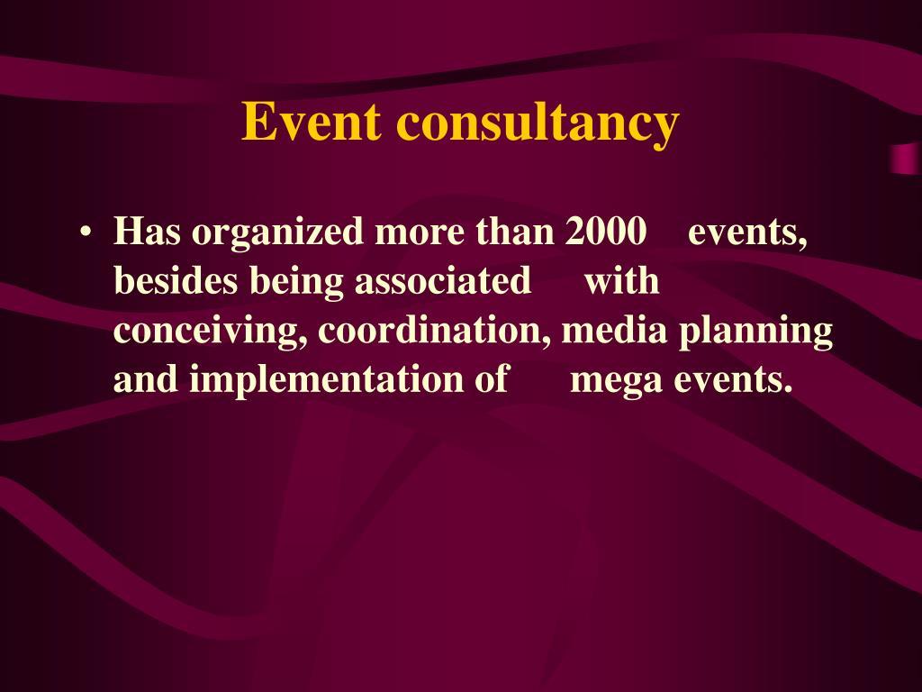 Event consultancy
