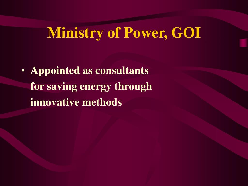 Ministry of Power, GOI