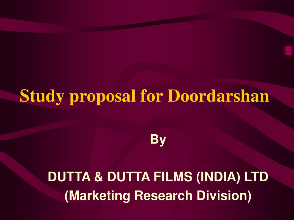 Study proposal for Doordarshan