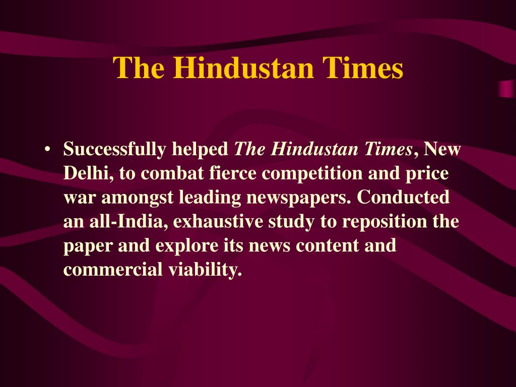 The Hindustan Times