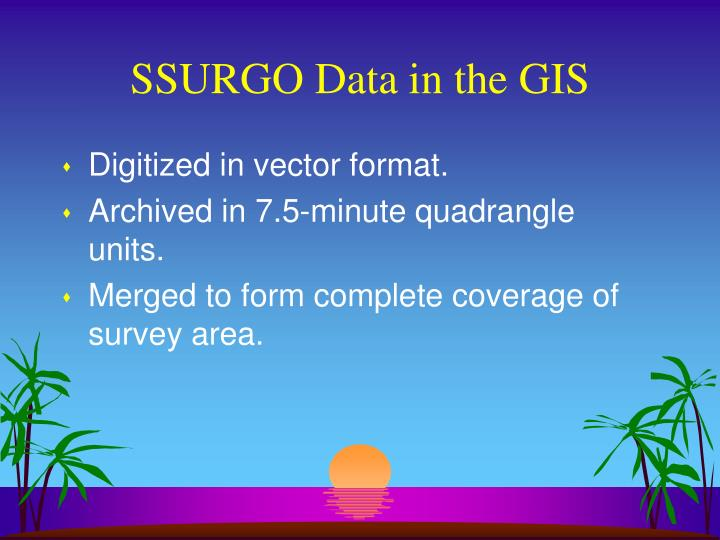 Ssurgo data in the gis1