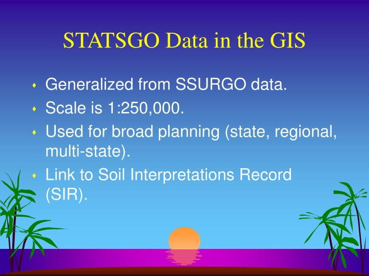 STATSGO Data in the GIS