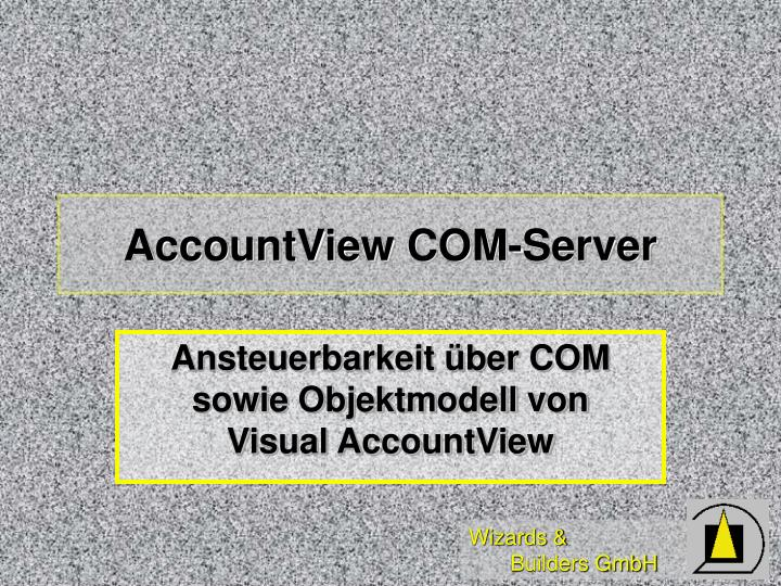 AccountView COM-Server