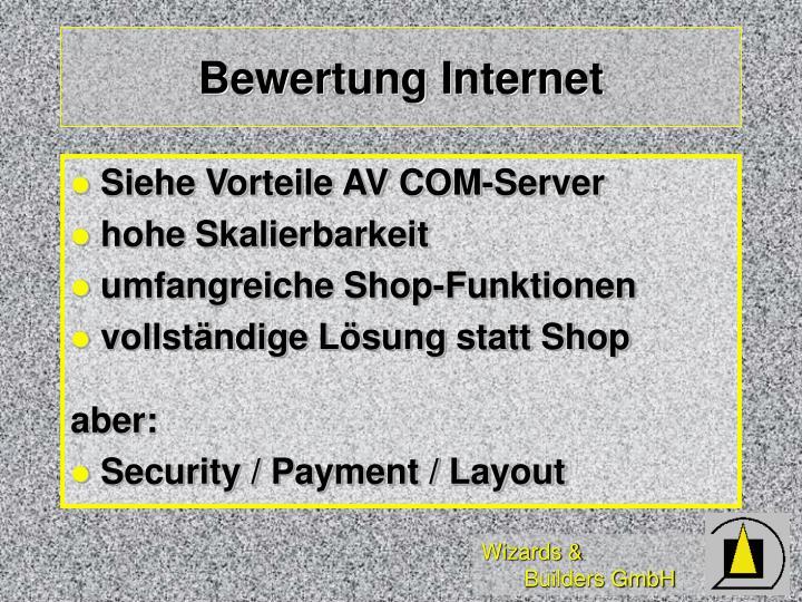 Bewertung Internet