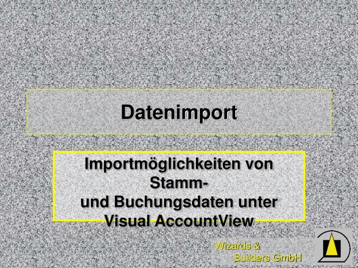 Datenimport