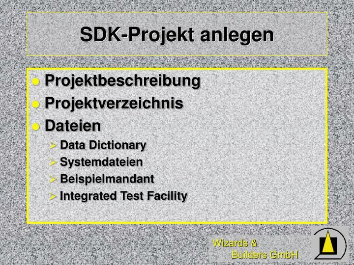 SDK-Projekt anlegen