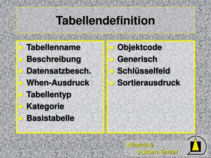 Tabellenname