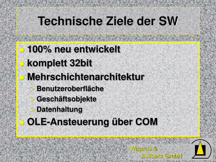 Technische Ziele der SW