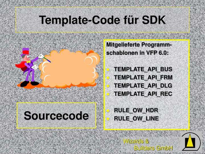Template-Code für SDK
