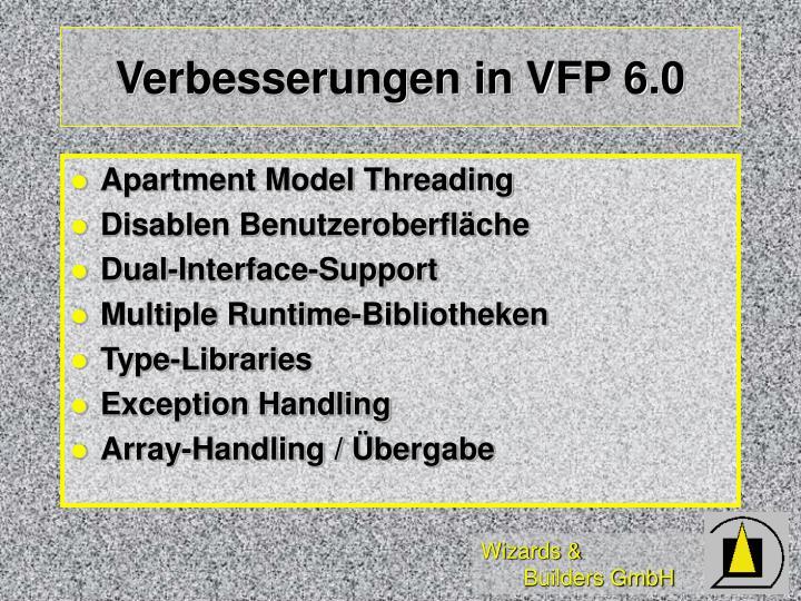 Verbesserungen in VFP 6.0