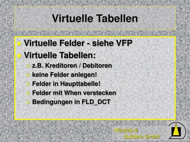 Virtuelle Tabellen