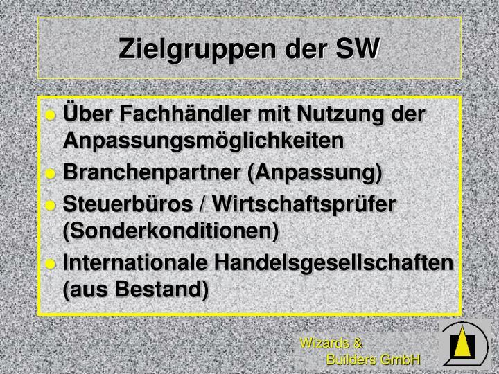 Zielgruppen der SW