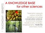 a knowledge base for other sciences