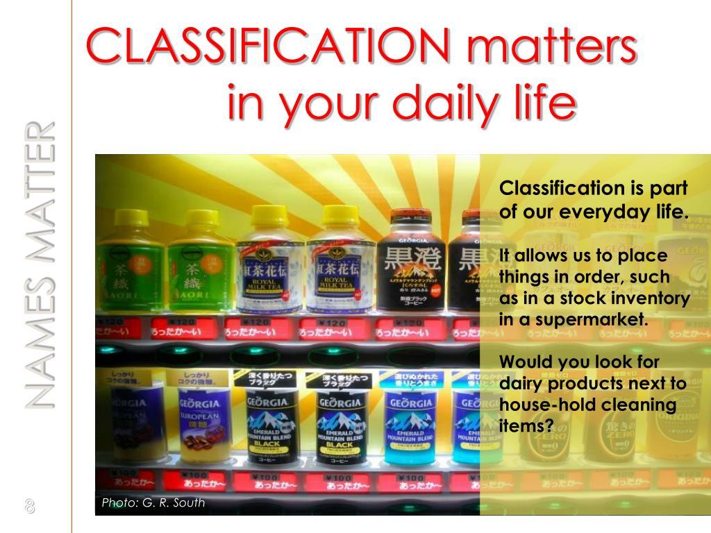 CLASSIFICATION matters
