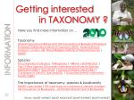 getting interested in taxonomy