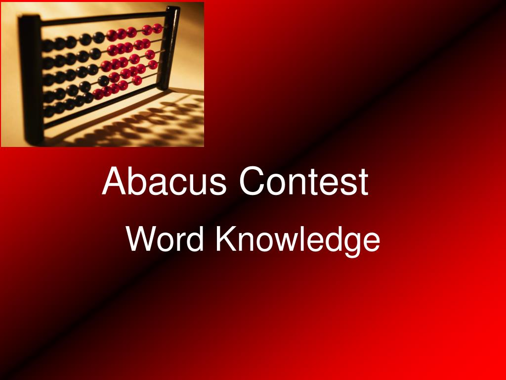 Abacus Contest