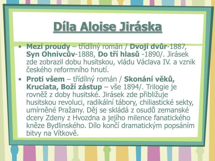 Díla Aloise Jiráska