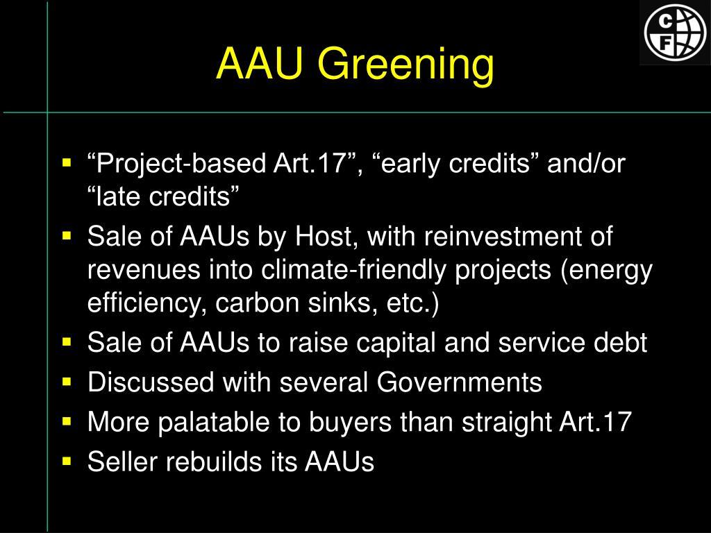AAU Greening